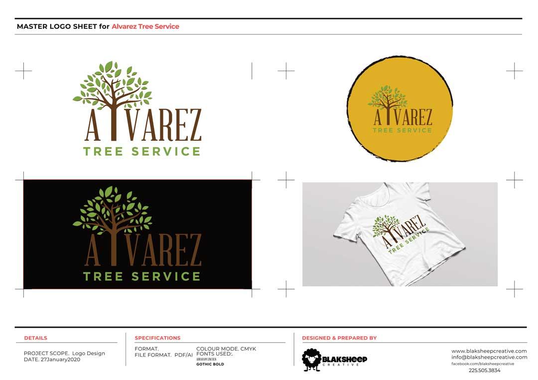 alvarez tree service Logo Contact Sheet 1