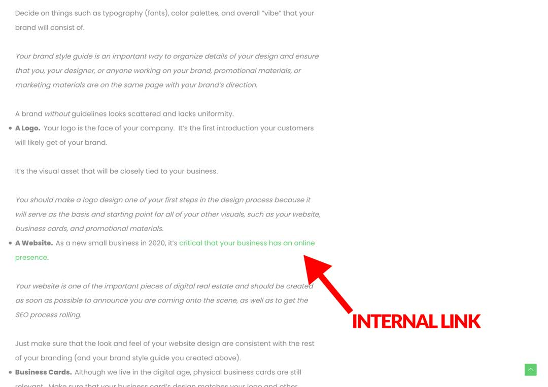 natural internal linking strategy for SEO