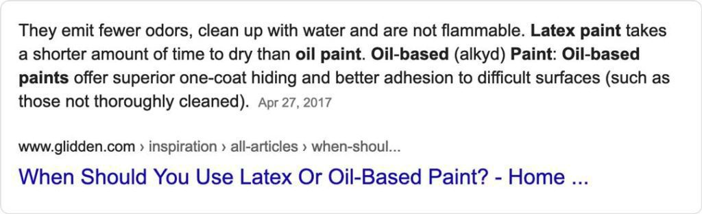 example of faq schema success on painting contractor website